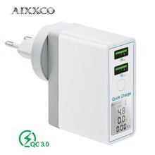 AIXXCO szybkie ładowanie 3.0 36W ładowarka USB dla iPhone X 8 szybka QC 3.0 ładowarka do Samsung Galaxy s9 s10 Xiaomi mi 8 9 ładowarka USB