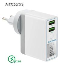 Aixxco 急速充電 3.0 36 ワットの usb 充電器 × 8 高速 qc 3.0 充電器サムスン銀河 s9 s10 xiaomi mi 8 9 usb 充電器