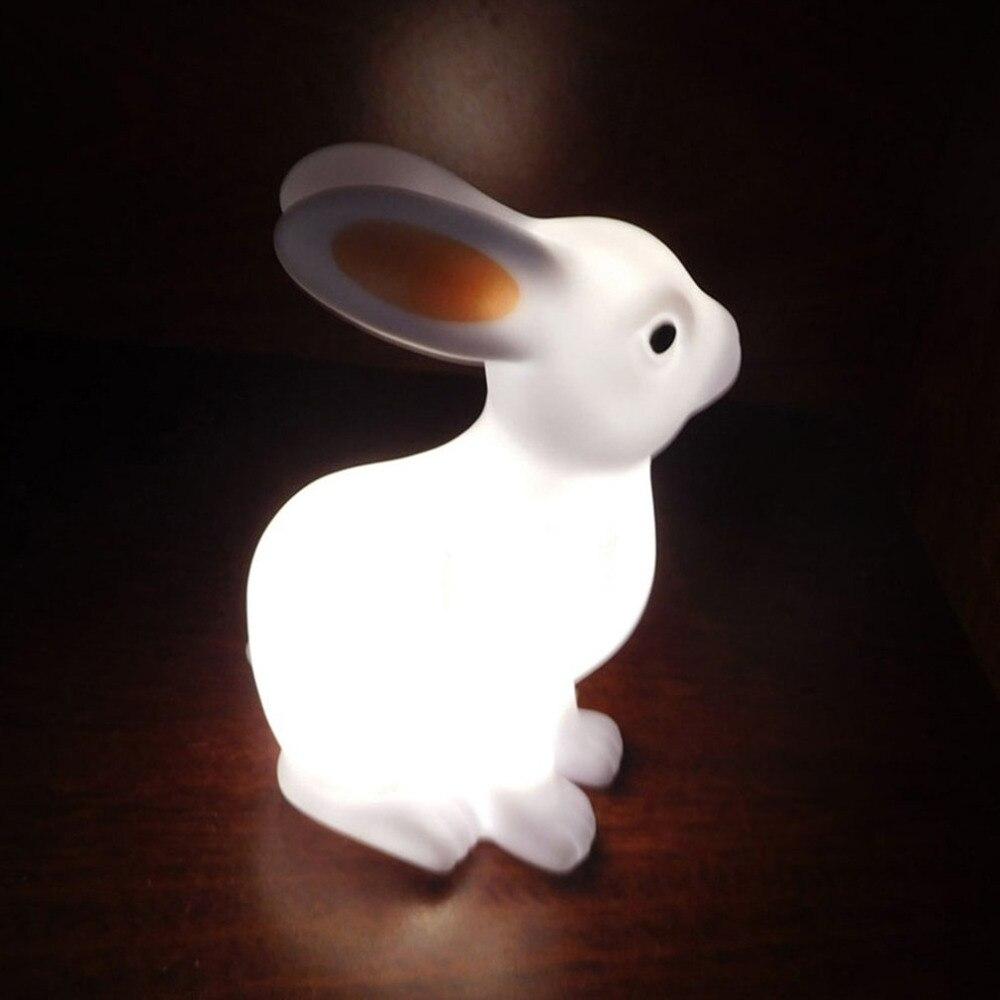 ICOCO Cute Cartoon Rabbit/Bear Kids Bedroom LED Night Light Small Size Baby Nursery Night Light Decoration