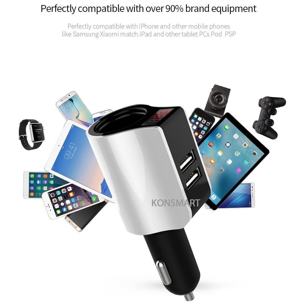 Samsung S8 автомобилі үшін зарядтау - Мобильді телефондарға арналған аксессуарлар мен бөлшектер - фото 3
