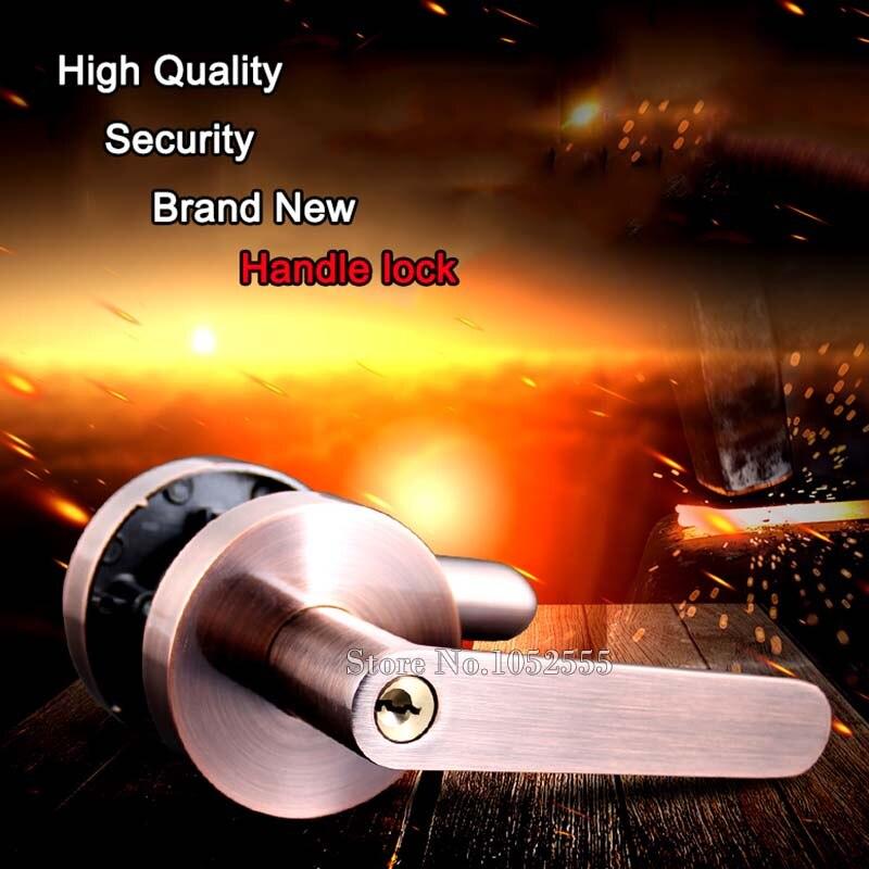 Nouvelle poignée de sécurité universelle en alliage de Zinc pour porte serrure poignée de porte Kit de verrouillage levier de bouton de matériel pour le levier de verrouillage de porte de sécurité à domicile K106