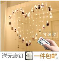 New girl room dormitory bedroom decoration battery love creative photo clip lantern for wedding ceremony