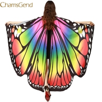 Chamsgend Newly Design Women Butterfly Wings Pashmina Shawl Scarf Nymph Pixie Poncho Costume Accessory 70925 Drop