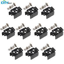 10 unids/lote de aluminio multifunción Servo de dirección manipulador de Robot para MG995 MG996R S3003 DIYmall