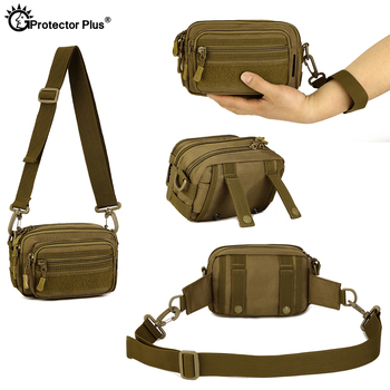 PROTECTOR PLUS Multipurpose Handbag Men Tactical Molle Messenger Bag Waterproof Military Camo Climbing Travel Waist bag Sports 5