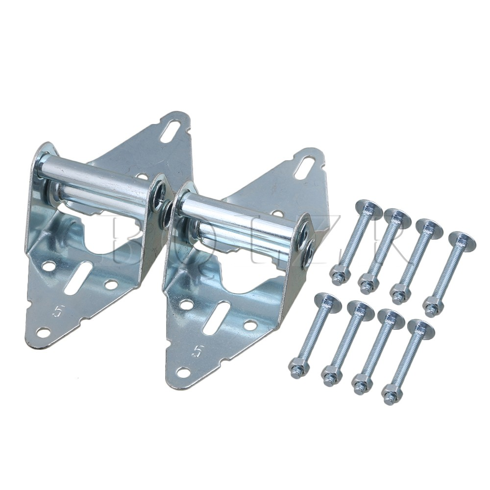 2PCS Heavy Duty Garage Door Hinges Replacement 5# Hinge with Bolt & Nut BQLZR 1 pair viborg sus304 stainless steel heavy duty self closing invisible spring closer door hinge invisible hinges jv4 gs58b