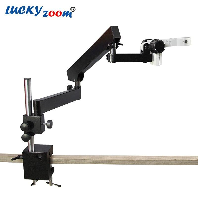 Luckyzoom Articulé Pilier Clamp Stand Pour Stéréo Zoom Microscope Bras Focuse Trinoculaire Microscopio Accessoires Livraison Gratuite