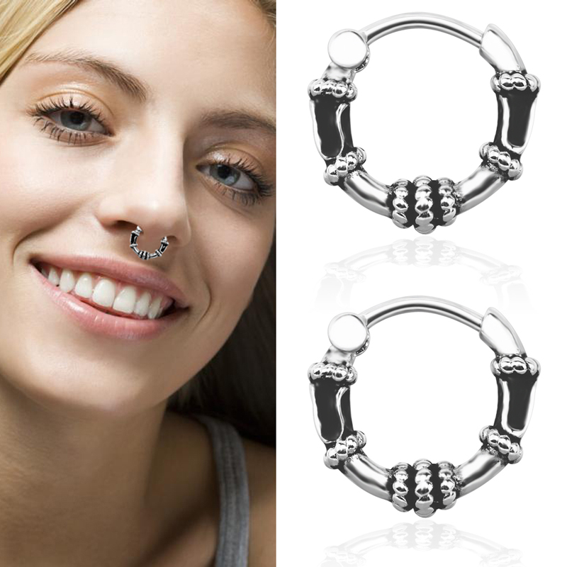 Multi Small Steel Ball Surgical Steel Septum Ring Captive Bead Nose