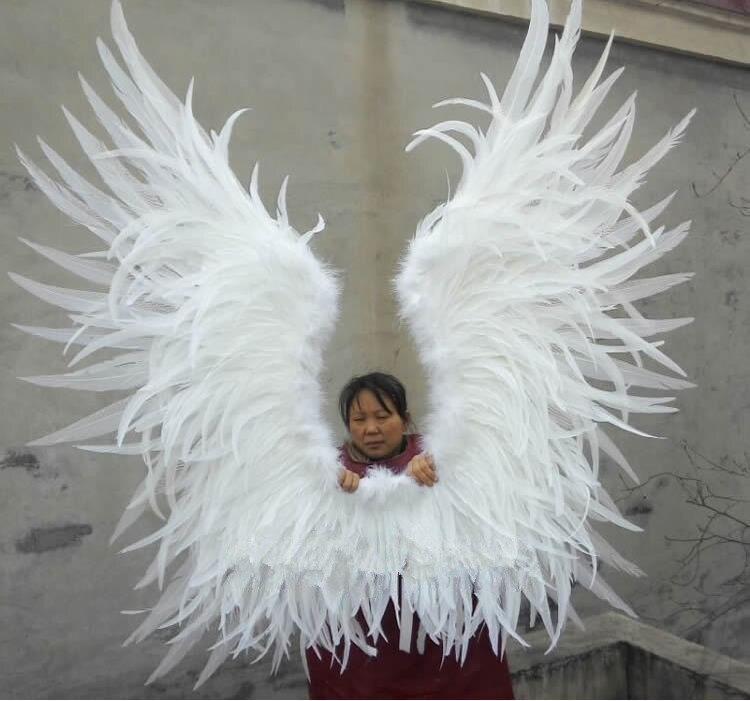 pure handmade fahsion nice angel feather wings wedding