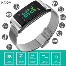 купить HAIOM Smart Watch Sport Fitness Bracelet Waterproof Fitness Trackers With Blood Pressure Monitor Oxygen Activity For Android IOS дешево