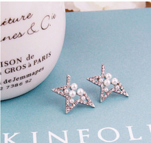 Austrian Crystal Star Shaped Stud Earrings Women Girls Small Earrings Made With Genuine Swarovski Elements Bijoux RD97