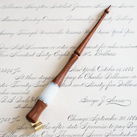 New Handmade Solid Wood English Oblique Calligraphy Nib Copperplate Script Holder Best Gift Antique Fountain Dip