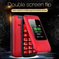 F1 Flip Dual Screen Mobile Unicom 4G Dual Card Dual Wait Big Character Loud Big Key Bluetooth Vibration Flashlight Mobile Phone