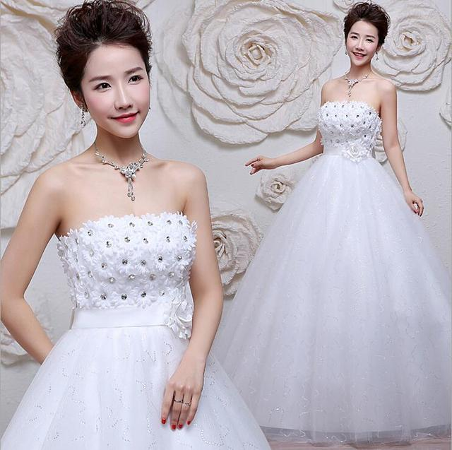 2017 new spring wedding bride wedding dress bra slim Qi thin Korean ...