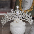 Regalo Nupcial Tiara de La Corona de plata de la vendimia de cristal accesorios nupciales del pelo del rhinestone coronas tiaras playa partido joyería de la boda 248