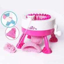 พลาสติกเข็มเครื่องมือDIYมือถักทอผ้าLoomสำหรับผ้าพันคอหมวกเด็กเด็กเล่นแกล้งทำเป็นของเล่น