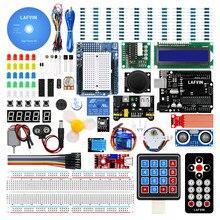 LAFVIN Siêu Bộ Khởi Đầu Cho Arduino UNO R3   Uno R3 Bo Mạch/Động Cơ Bước/1602 Màn Hình LCD/Dây Nhảy dây/Có CD Hướng Dẫn
