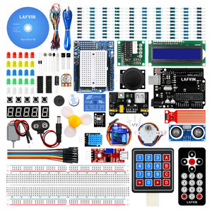 Image 1 - LAFVIN Super Starter Kit for Arduino UNO R3   Uno R3 Breadboard / Step Motor / 1602 LCD / jumper Wire / with CD Tutorial