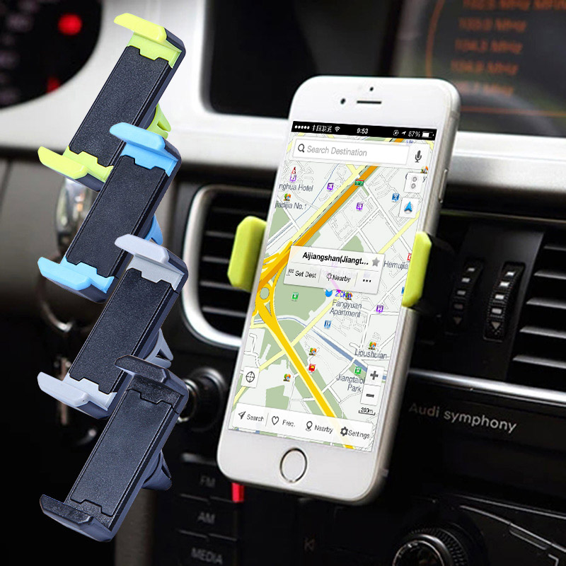 360 Universal Car Air Vent Phone Holder Navigate Case Cover For iPhone 5 6 7 Plus Samsung Galaxy Note 7 S6 S7 Stand Holder