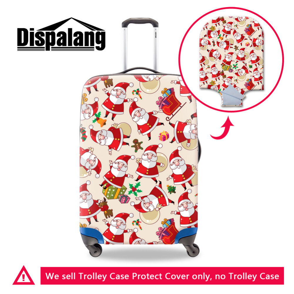 Elastic Travel Trolley Accessories Santa Claus Print Waterproof Luggage Protective Cover 19-30inch Suitcase Best Christmas Gifts