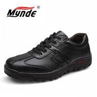 Mynde бренд размер 38-48 Модные ручной работы из брендовой натуральной кожи Для мужчин Туфли без каблуков, мягкая кожа Для мужчин мужские мокаси...