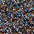 Мм 100 шт. 4 мм Смешанные Цвет Bicone Австрия Кристалл бусины Шарм Стекло свободный разделитель Бисер бисера для DIY ювелирных изделий - фото