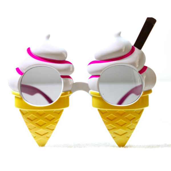 Birthday Party Supply Party Accessory Funny and Cute Ice Cream Party Glasses For Dances and Festivals Party Supplies Decoration