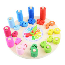 Preschool Baby Early Education Montessori Toys Teaching Aids Math Toys Digital Clock Wooden Toy Count Geometric Shape Matching montessori wooden puzzle children counts kindergartens mathematics teaching aids baby early education math toys digital stick