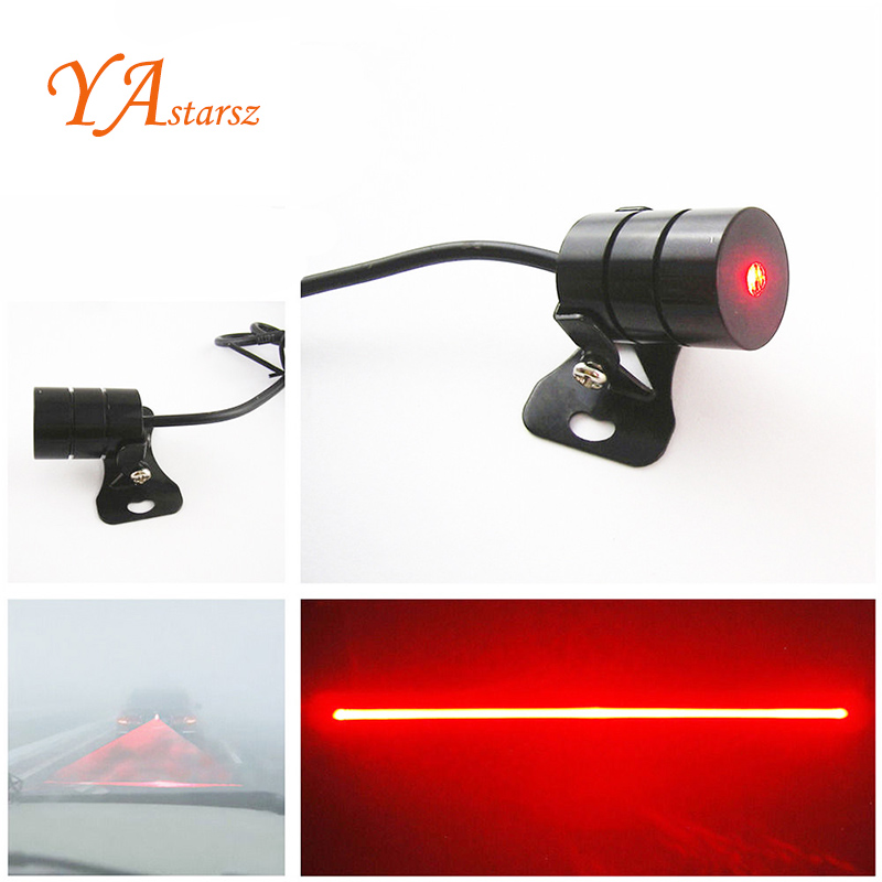 Anti Collision Rear-end Car Laser Tail 12v led Car Fog Lights Auto Brake Parking Lamps Warning Light Car Styling For Volkswagen car rear tail warning lamp for ford edge 2015 2016 external automobiles for anti collision rear end auto safe driving lights