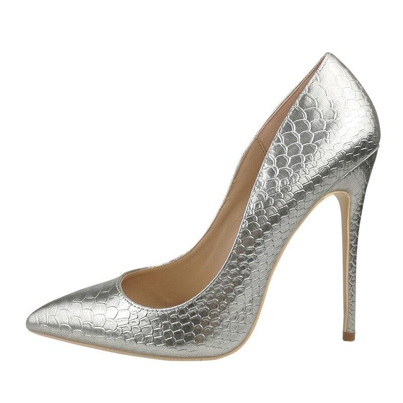 De 12cm Femmes Serpent Heels 10cm 8 Haute Talons Plus Talon Pointu Cuir Craylorvans Stiletto 10 Noce Heels 12 Cm Pompes silver Mince En Chaussures Argent Silver 8cm 7gb6fIYyv
