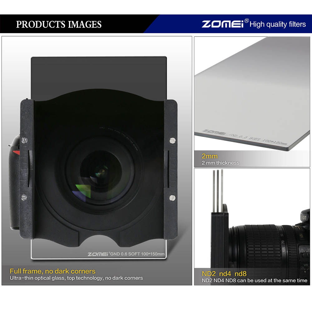 Zomei Pro 100 մմ Գրադ փափուկ ND2 ND4 ND8 - Տեսախցիկ և լուսանկար - Լուսանկար 4