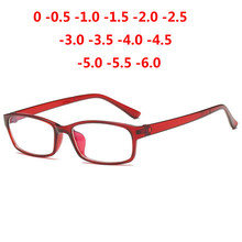 0 -1 -1.5 -2 -2.5 -3 -3.5 -4 -5 -6 Finished Myopia Glasses Men Short-sight Eyewear Red Frame Women Diopter Eyeglasses(China)