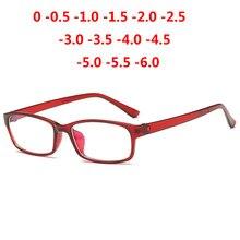 1713351a9c5 0 -1 -1.5 -2 -2.5 -3 -3.5 -4 -5 -6 Finished Myopia Glasses Men Short-sight  Eyewear Red Frame Women Myopia Glasses