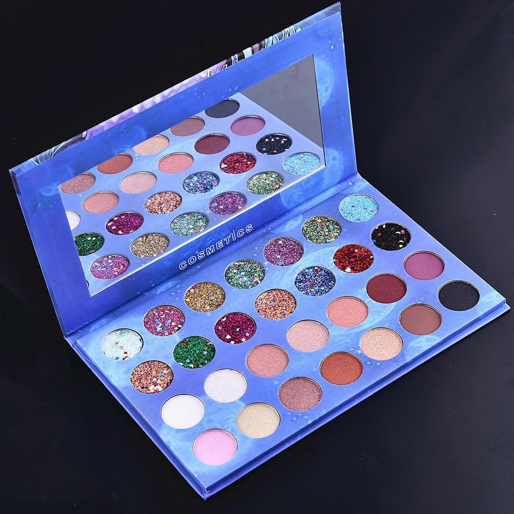 28 Colors Glitter Sequined Eyeshadow Make Up Cosmetic Pressed Glitters Eye Shadow Marble Eye Shadow Palette Beauty Makeup Set