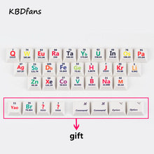 Buy keyboard for table and get free shipping on aliexpress cherry profile pbt keycaps 26 keys chemical element periodic table for mechanical keyboard the sublimation urtaz Choice Image