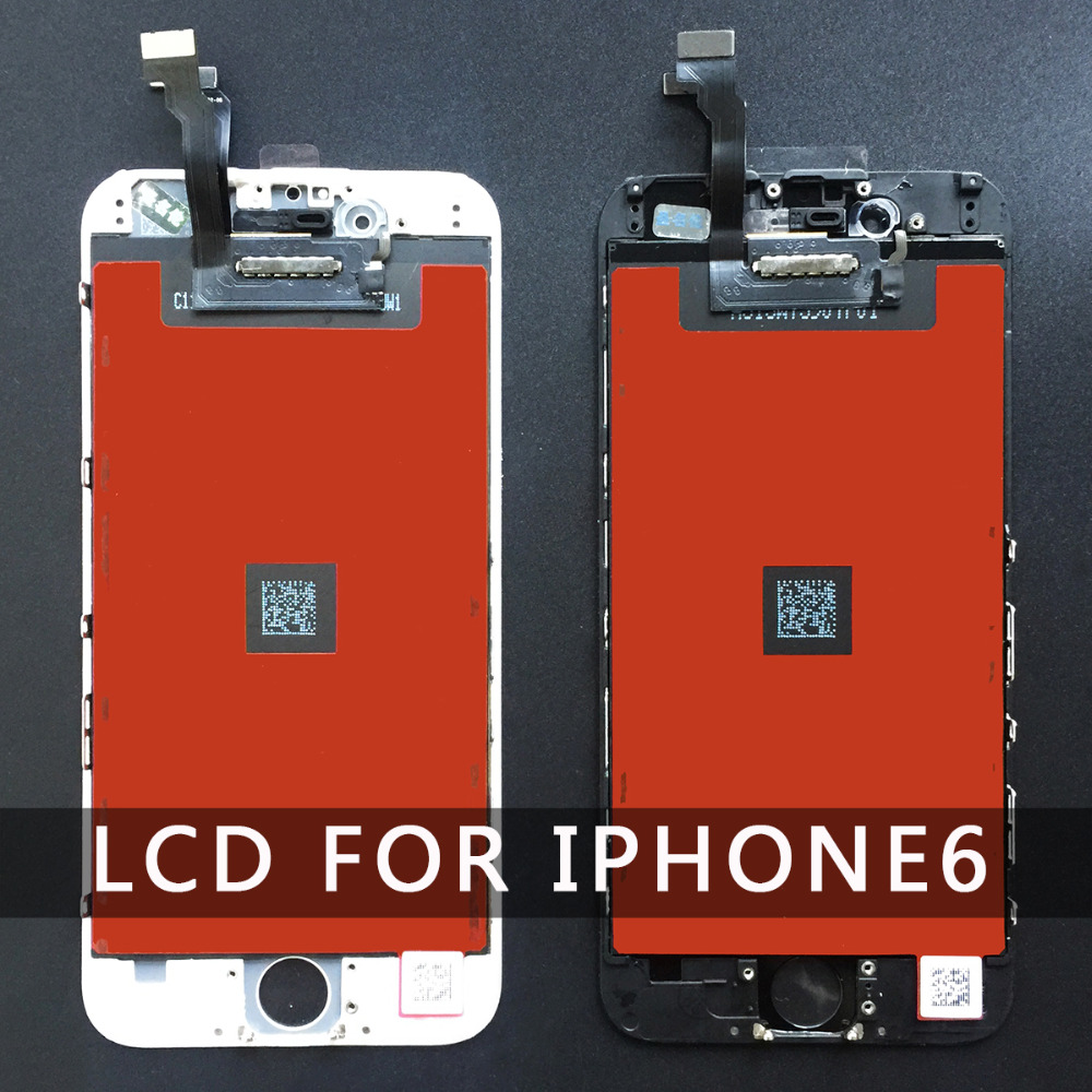 Replacement For Iphone 6 Display LCD Screen Part With Touch Digitizer Assembly Black And White 4.7inch 100% Good Quliay