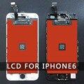 Parte tela lcd da recolocação para iphone 6 4,7 polegadas com tela sensível ao toque digitador assembléia preto e branco em estoque