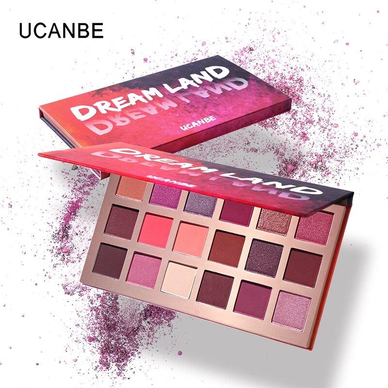 93 Best Pink Palette Images On Pinterest: UCANBE Brand Shimmer Matte Dreamland 18 Colour Eyeshadow