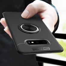 Lüks Darbeye Dayanıklı Yumuşak Kılıf Samsung Galaxy Üzerinde S10 S8 S9 Artı S10 Lite Halka Braket Için Not 8 9 araba Manyetik Ta...