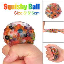 Spongy Rainbow Ball Toy Squeezable Stress Squishy Toy Stress Relief Ball For Fun Gifts Stress Relief Reliever Squishy Toy Hot