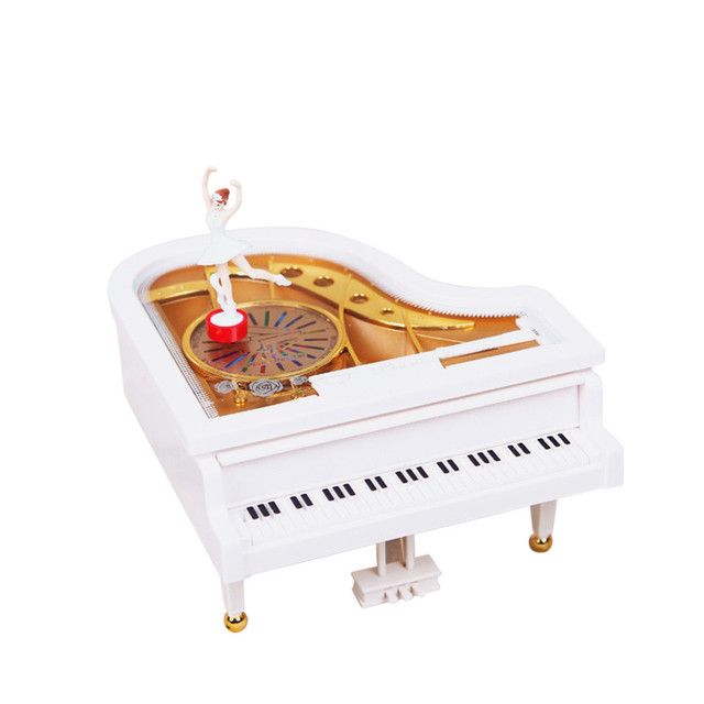 mini swing piano ballet dancer vintage music box gifts for kids christmas abstract classical crafts adornos - Christmas Classical Music
