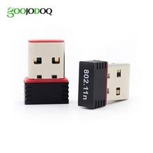 GOOOJODOQ Mini Portable USB 2.0 WiFi Adapter 802.11n g b Wireless Network LAN Card for PC Laptop Mac OS Linux WiFi antenna