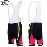 KIDITOKT Brand 3D Gel Padded Velvet Quick Dry UV Womens Bicycle Bib Shorts New Style New