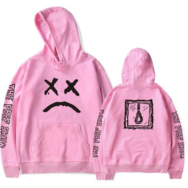 Lil Peep Hoodies Men Streetwear Hooded Mantle Sweatshirts Male Hip Hop Hoddies Cry Baby  Harajuku Women Hoody Black Pink Red
