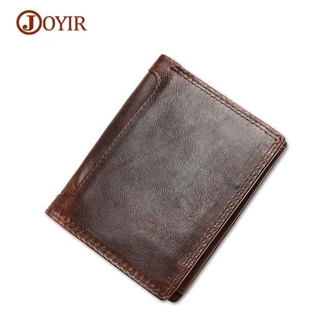 Joyir бумажник мужской портмоне Для мужчин Пояса из натуральной кожи Для мужчин кошелек Винтаж тонкий Для мужчин бумажник карты фотография держатель для монет кошелек