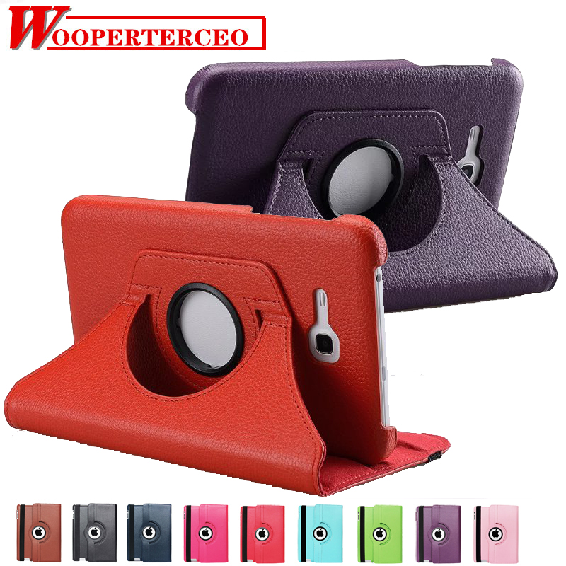 For Samsung Galaxy Tab 3 Lite 7.0 inch T110 T111 Magnetic Auto Sleep/Wake up Litchi Leather Case Cover with 360 Degree Rotating