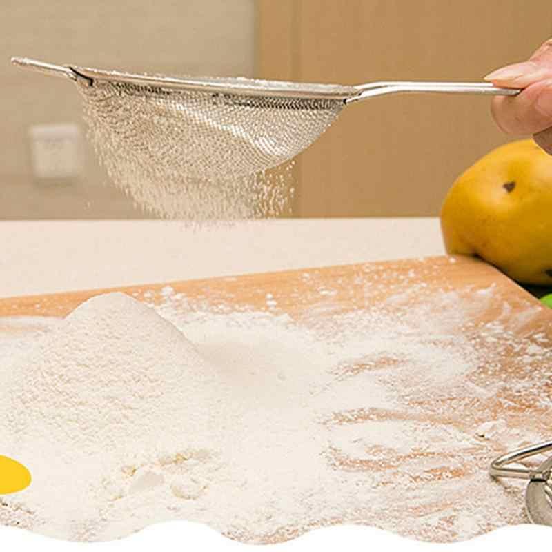 Durablel mąka kuchenna ze stali nierdzewnej ręczny ekran sitko sito do przesiewania mąki filtr oleju durszlak