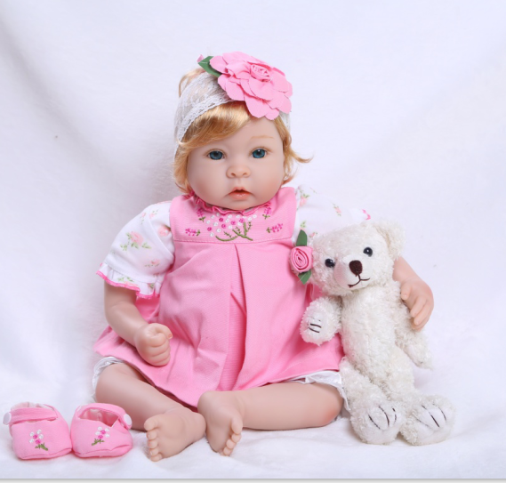 Vinyl Alive Dolls Kid's Toys Princess Doll Toys Girls Pink Dress Lifelike Newborn Baby Doll Christmas New Year Gifts Reborn Toys little cute flocking doll toys kawaii mini cats decoration toys for girls little exquisite dolls best christmas gifts for girls