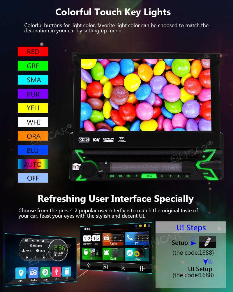 Радио встроенный микрофон Bluetooth с пультом дистанционного управления Eincar в тире автомобильный проигрыватель Стерео Авторадио 7 дюймов HD сенсорный экран