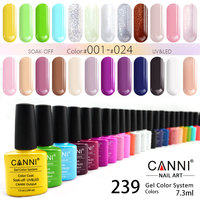 CANNI Gel Polish 240 Colors 7.3ml Odourless Organic 30917 Nail Salon Long Lasting Base Top Coat Soak off UV LED Nail Gel Varnish